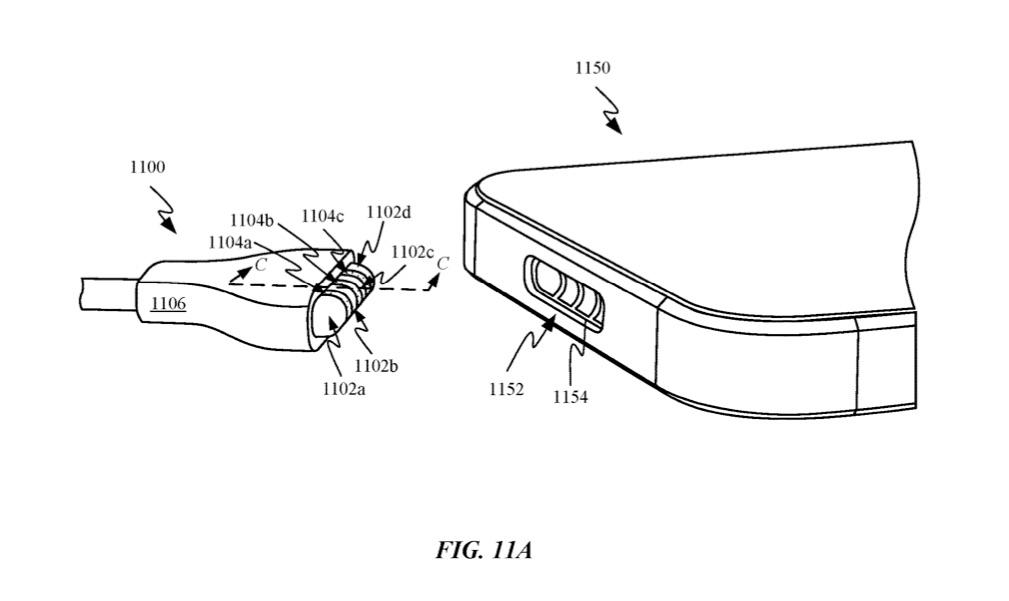 Patent voor MagSafe achtige aansluiting in een iPhone.