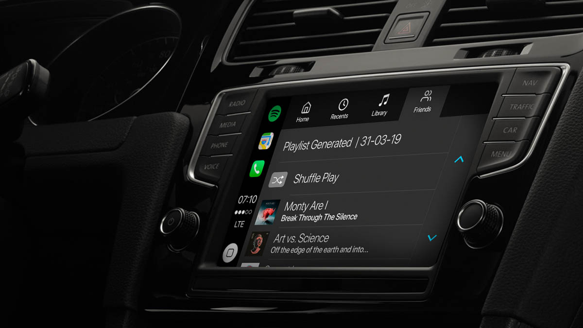 Spotify in CarPlay