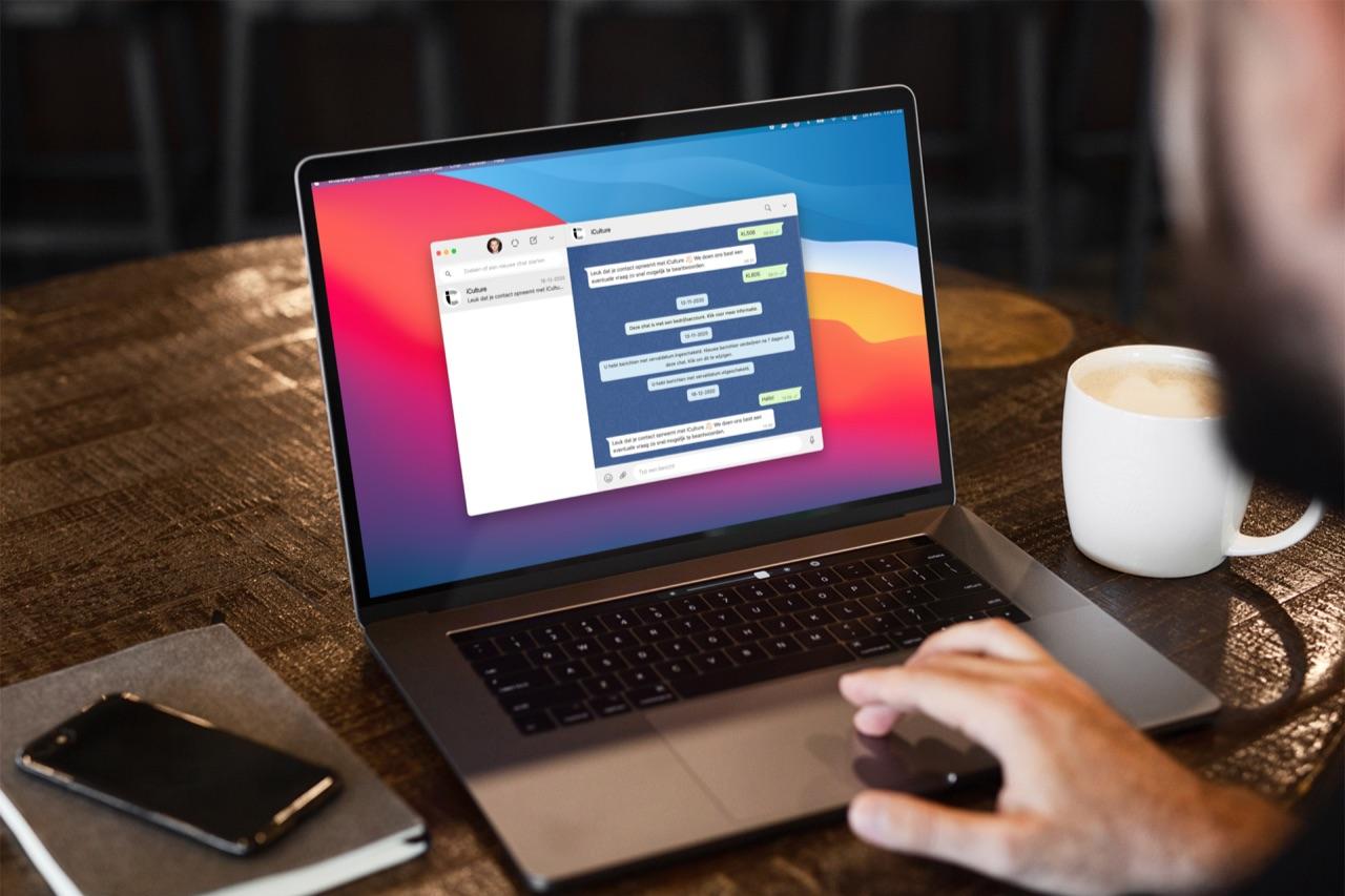 WhatsApp Desktop op een MacBook.