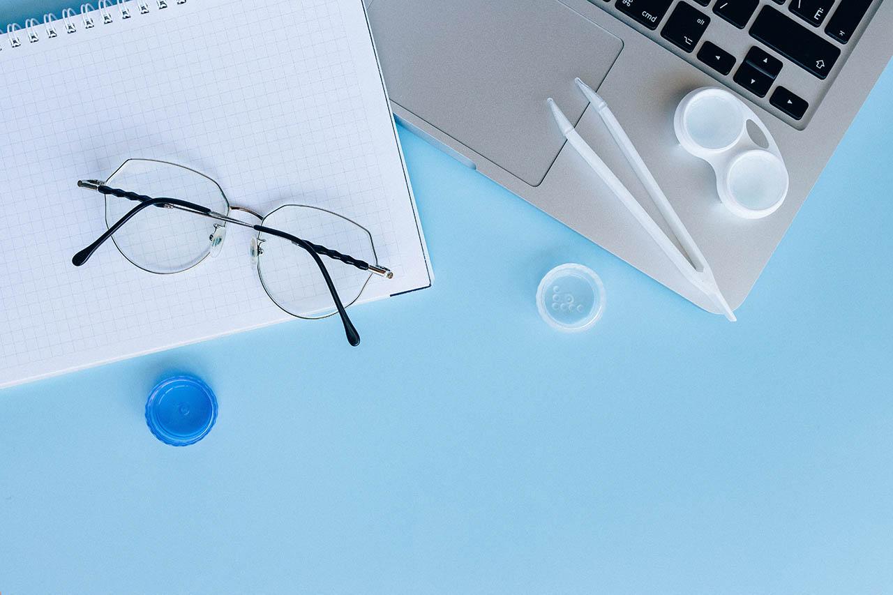 Apple bril en contactlenzen