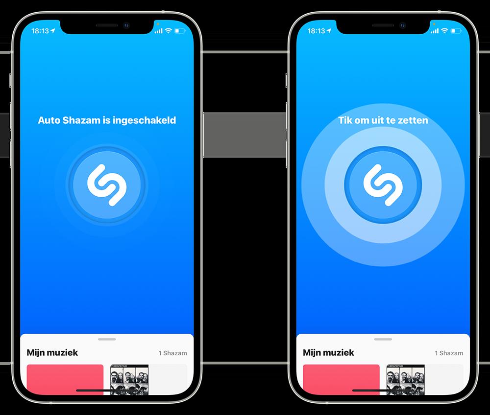 Shazam automatisch luisteren