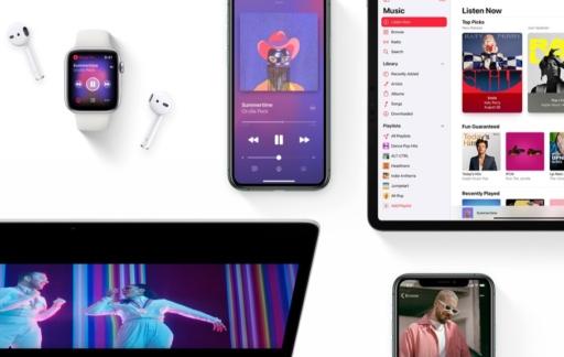 Apple apparaten met Apple Music.