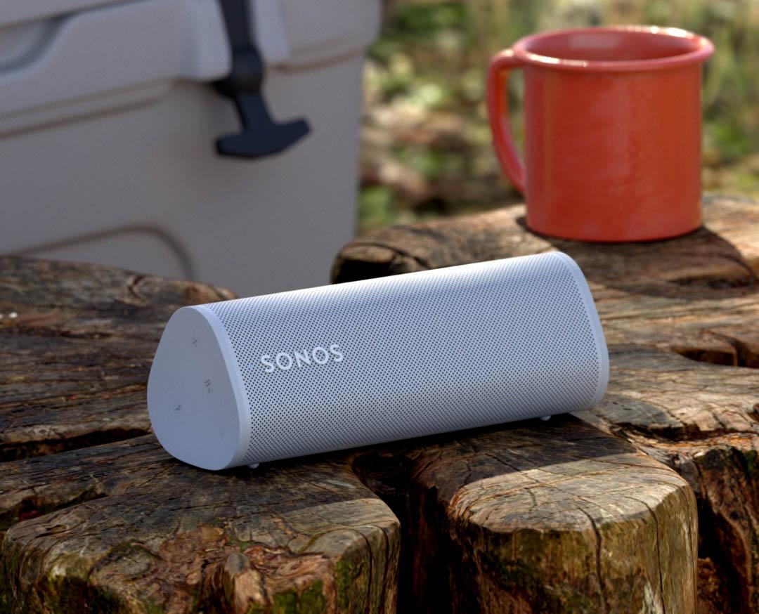 Sonos Roam tijdens kamperen