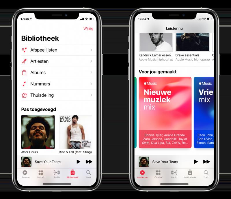 Apple Music en Muziek-app: bibliotheek en mixen.