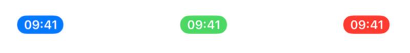 Bubbels in de iPhone statusbalk: blauw, groen en rood.