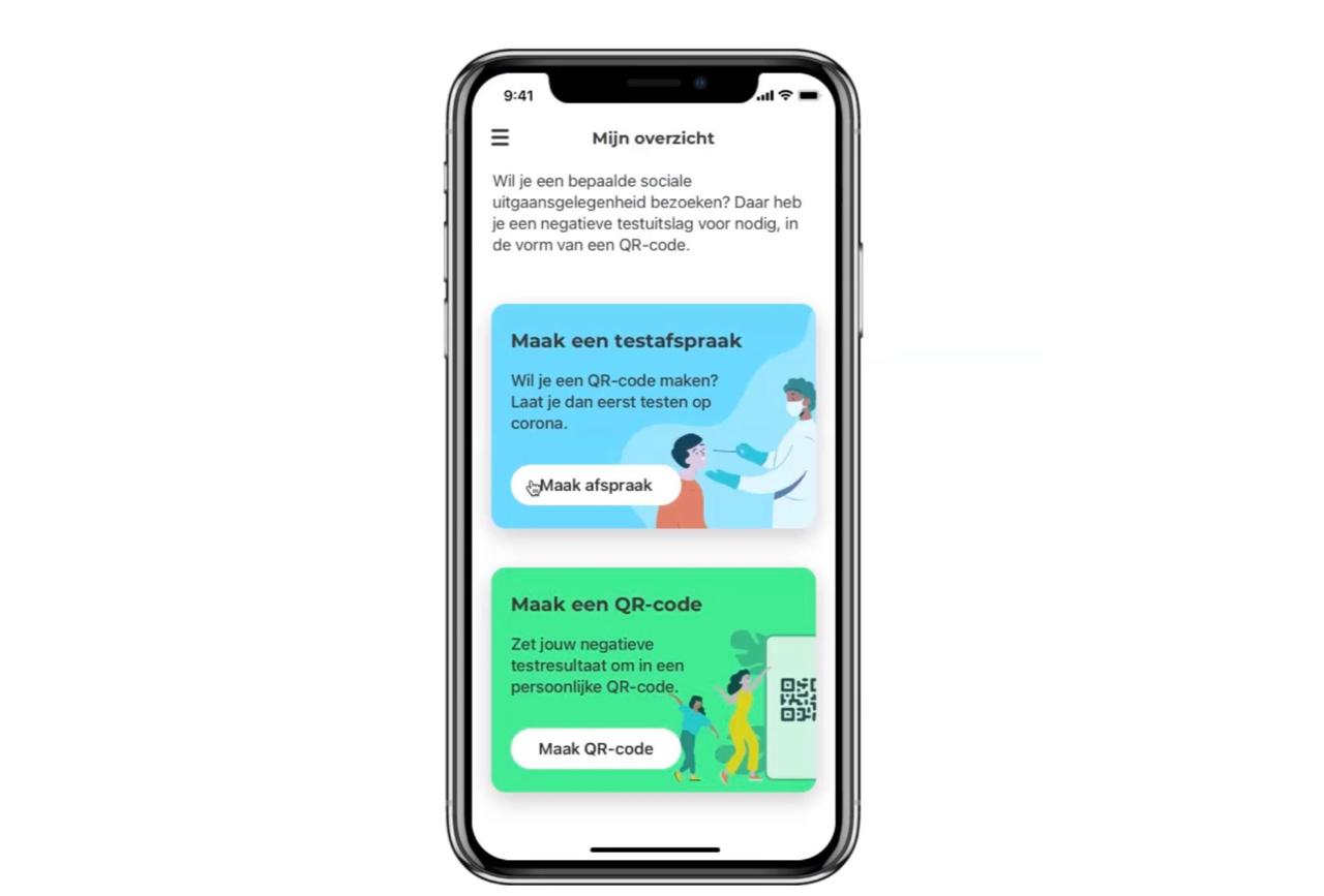 CoronaCheck-app met QR-code maken.