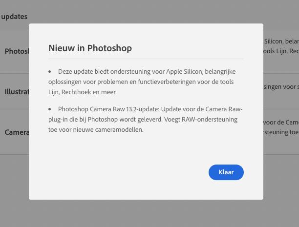 Adobe Photoshop Apple Silicon M1 update.