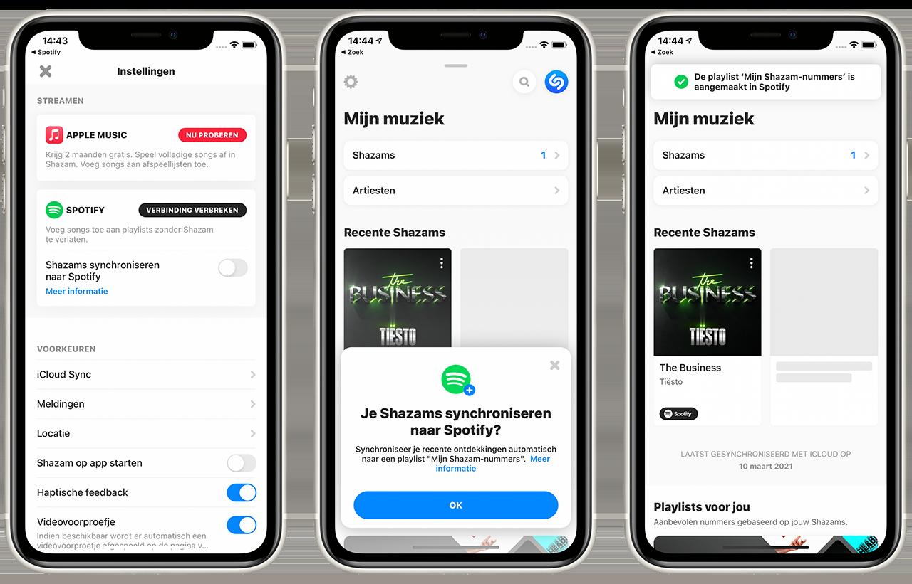 Shazam koppelen met Spotify