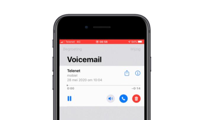 Visual Voicemail bij Telenet.
