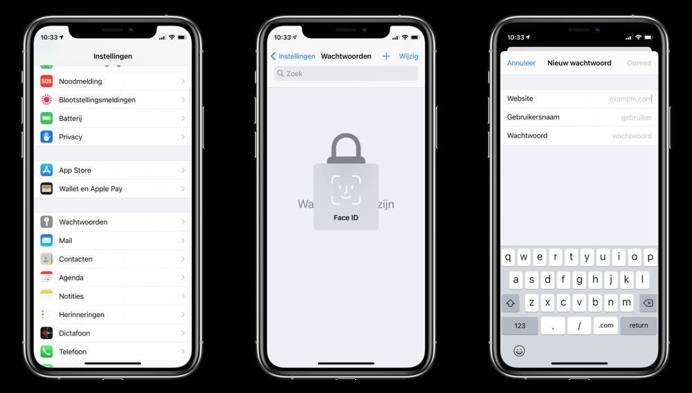 iCloud-sleutelhanger wachtwoord toevoegen.