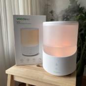 VOCOlinc MistFlow luchtbevochtiger met HomeKit, samen met de doos.