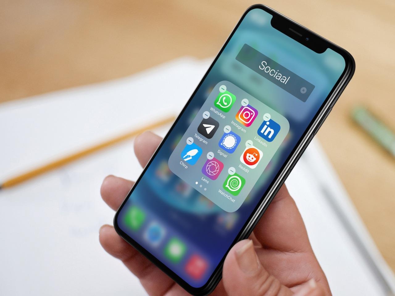 iPhone-apps verwijderen en wissen.