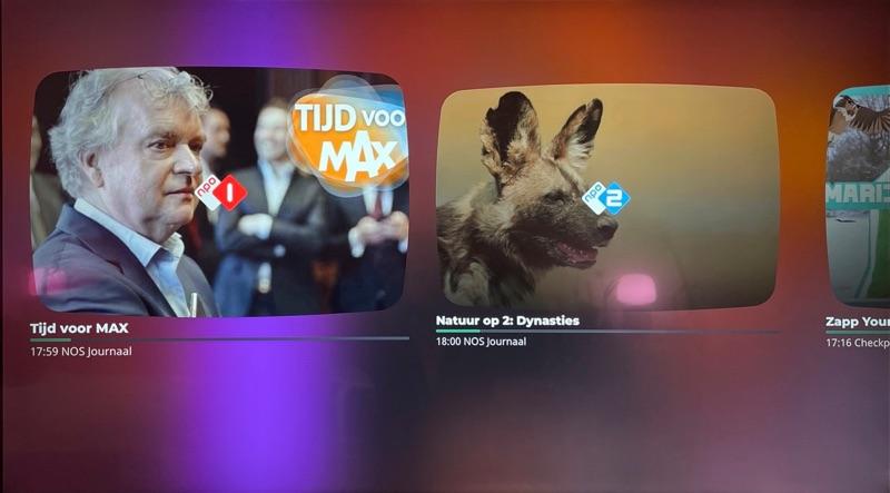 Zappen in NLZIET 5 op de Apple TV.