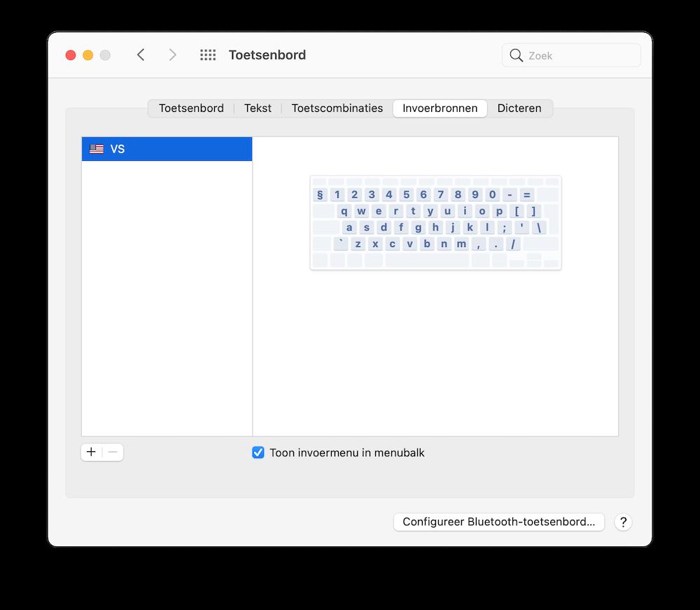 toetsenbord-weergave-menubalk