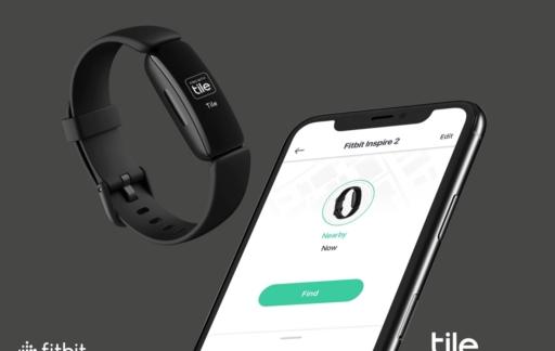 Fitbit Inspire 2 met Tile integratie.