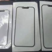 iPhone 13 notch op de foto in paneel onderdeel.