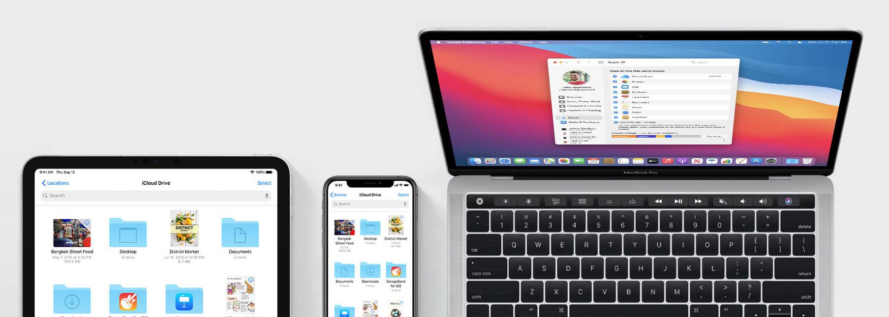 iCloud op iPhone, iPad en Mac