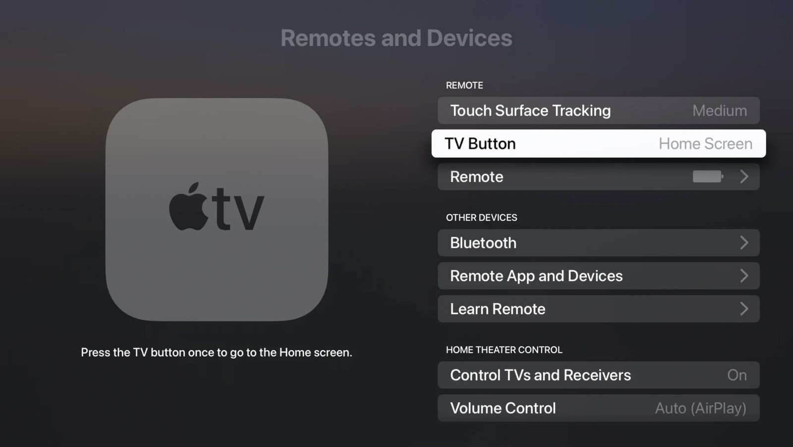 TV-button in tvOS 14.5