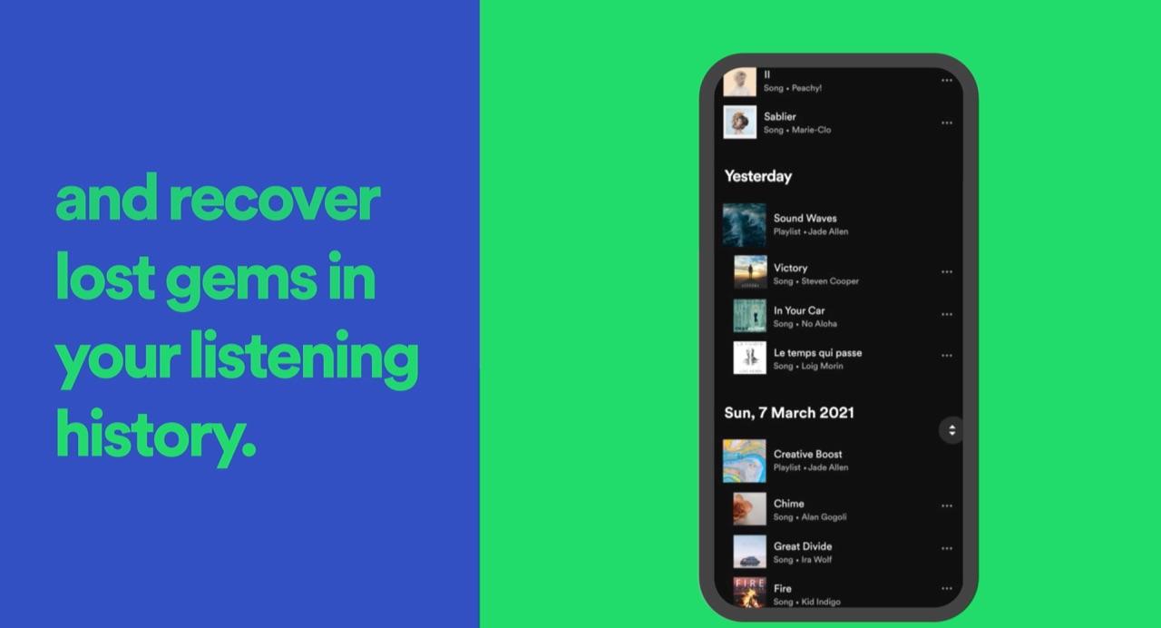Tijdreizen door je beluisterde Spotify muziek.