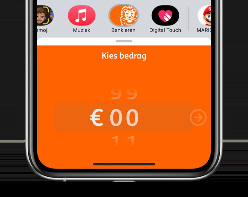 ING betaalverzoek via iMessage.