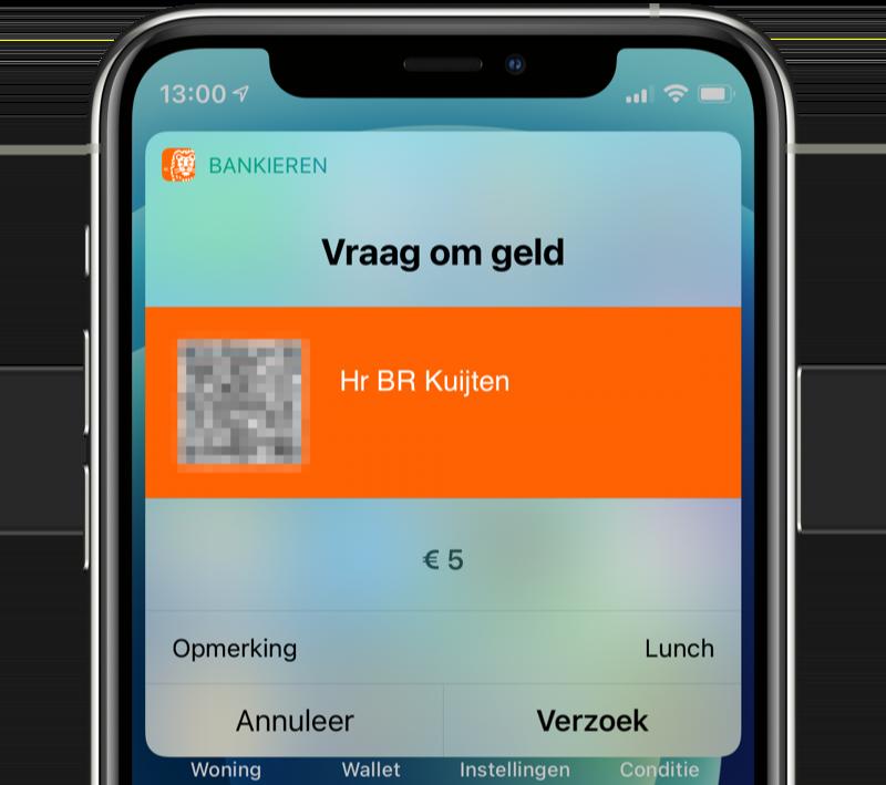 ING betaalverzoek via Siri.