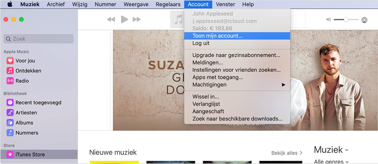 iTunes-computers beheren