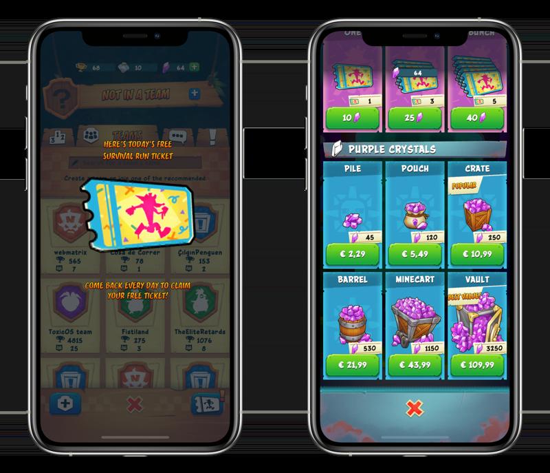 Crash Bandicoot: On the Run tickets en in-app aankopen.