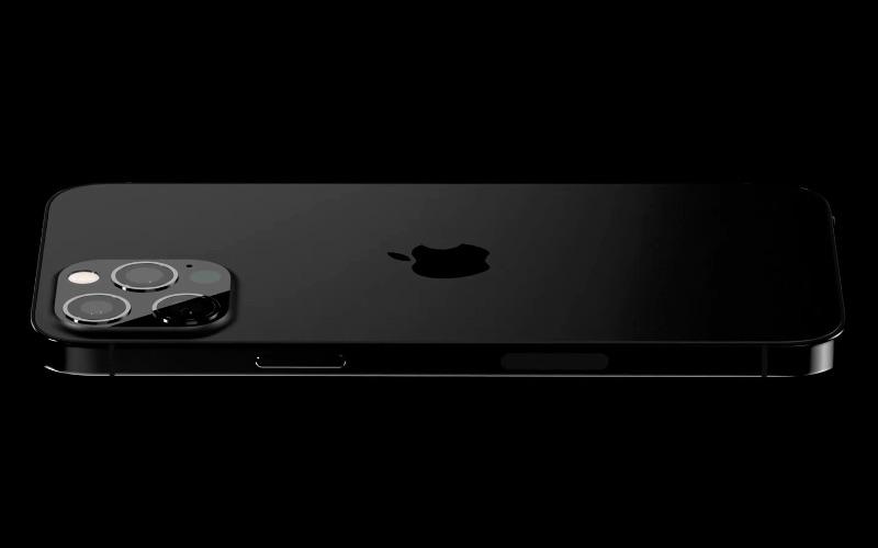Matzwarte achterkant iPhone 13 Pro volgens gerucht.