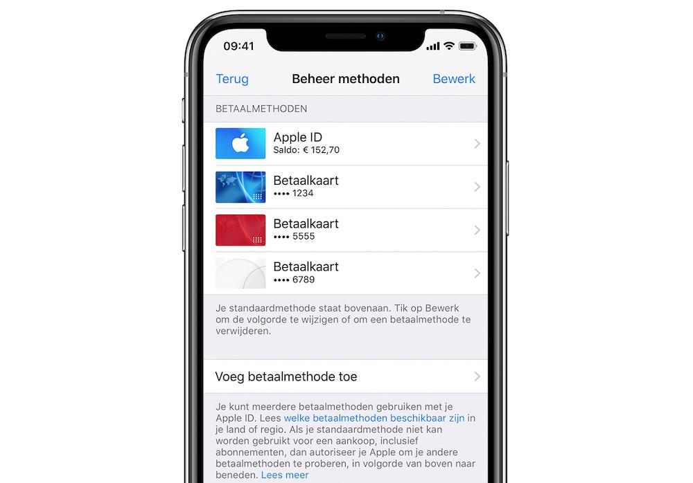 betaalmethoden-iphone-beheren