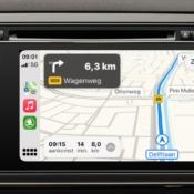 CarPlay: Apple Kaarten met flitspaal.