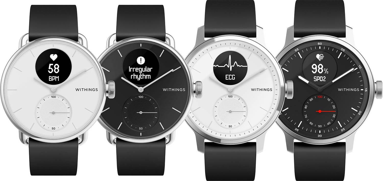 Withings Scanwatch in zwart en wit