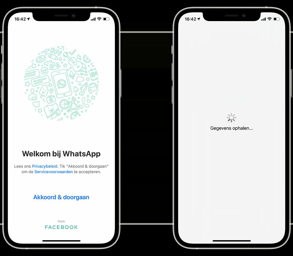 WhatsApp reservekopie terugzetten