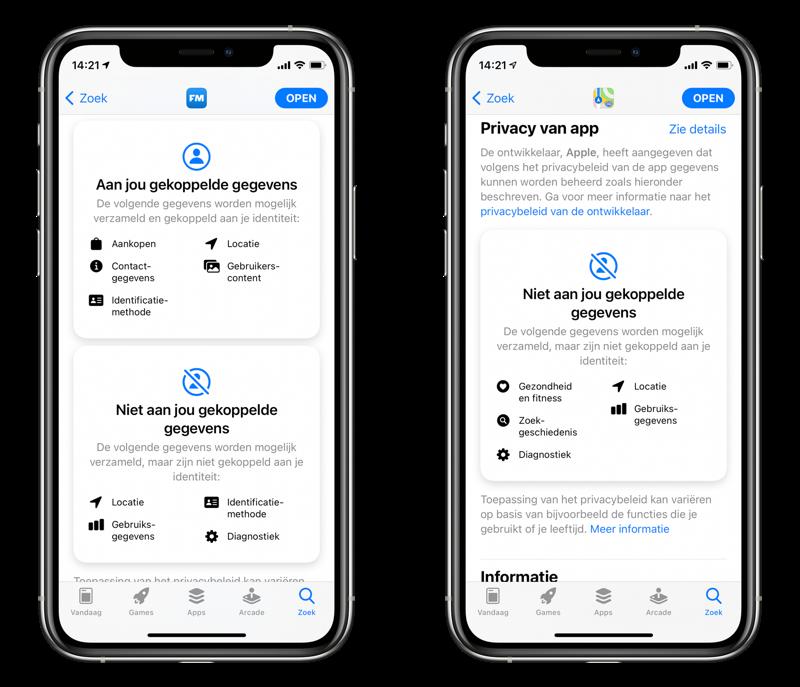 Flitsmeister vs Apple Kaarten: privacy.