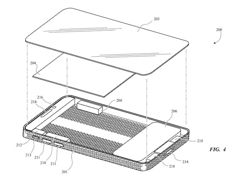 iPhone met kaasrasp Mac Pro design in patent.