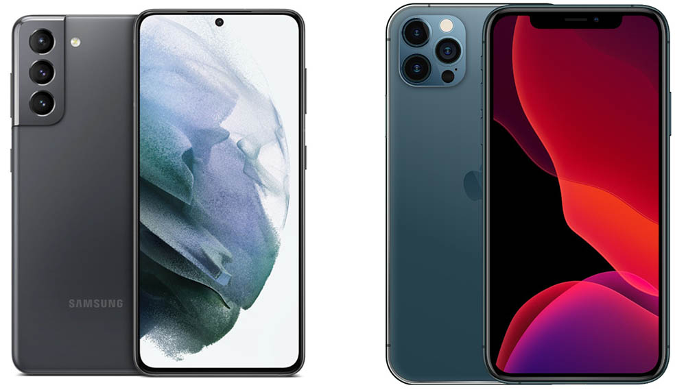 Hole punch in Samsung vs iPhone notch