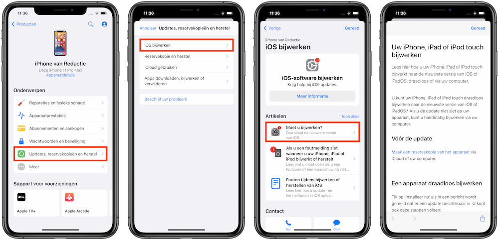 artikel-lezen-apple-support-app