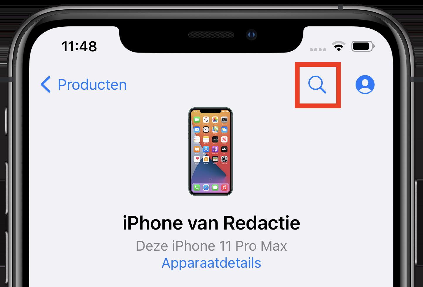 zoeken-apple-support-app