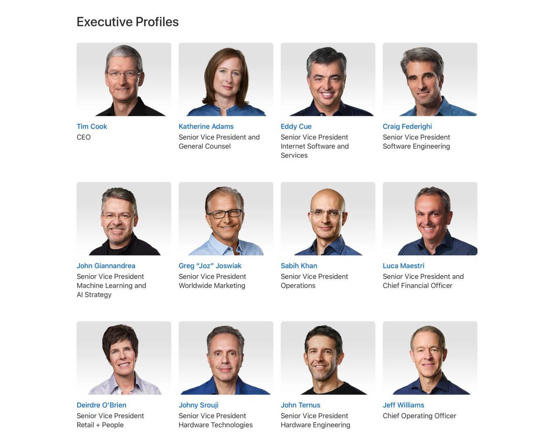 Apple management voorjaar 2021