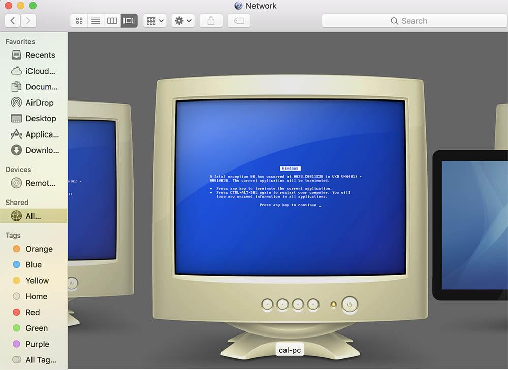 Windows pc in netwerk