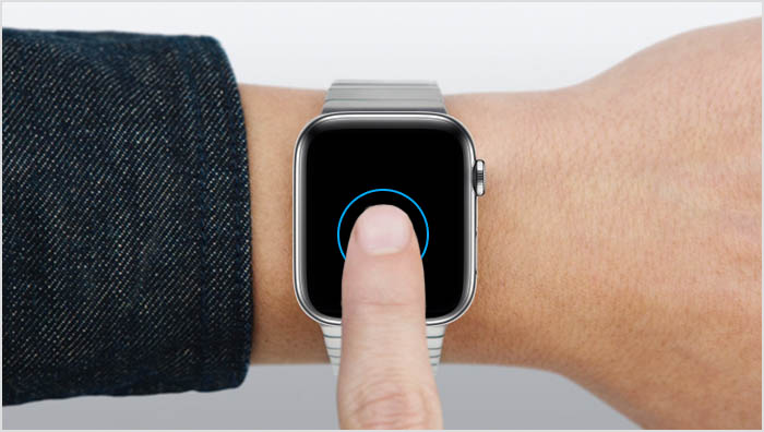 Apple Watch bedienen door te tikken