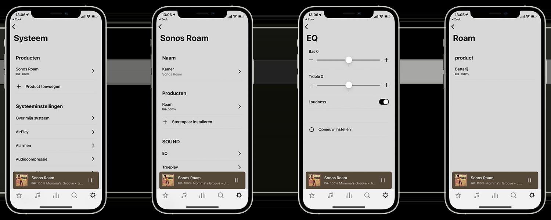 Sonos Roam-app