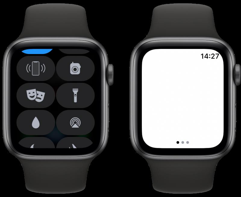 Apple Watch zaklamp openen.