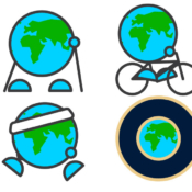 Earth Day 2021 stickers