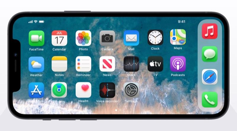 iOS 15 concept met icoontjes van macOS Big Sur.