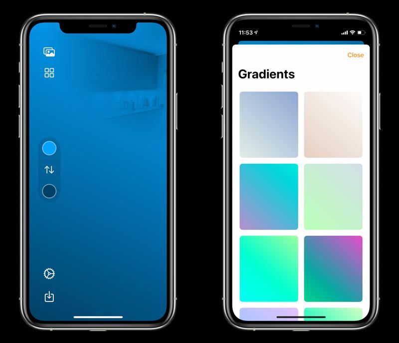 HomePaper-app: wallpaper met gradient voor HomeKit.