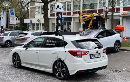Apple Kaarten-auto in Nederland (Arnhem).