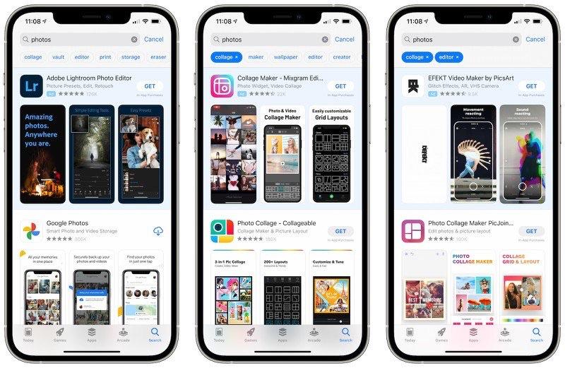 Test: App Store tags bij zoeken naar apps.