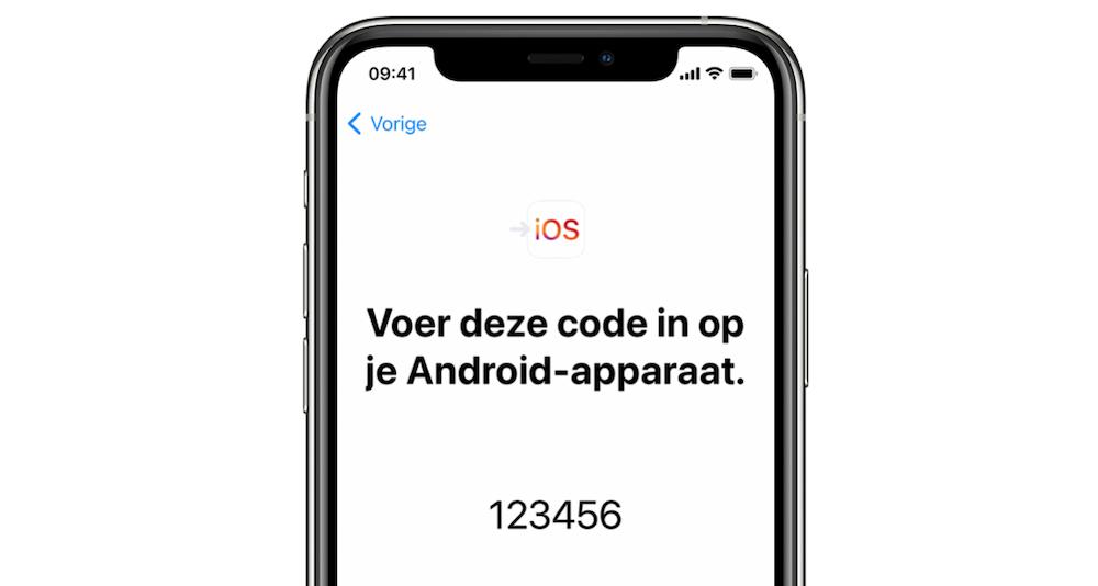 voer-code-in-op-android-overstappen-naar-ios
