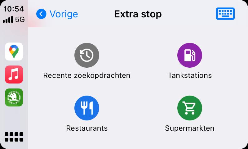 Google Maps in CarPlay: tussenstop maken.