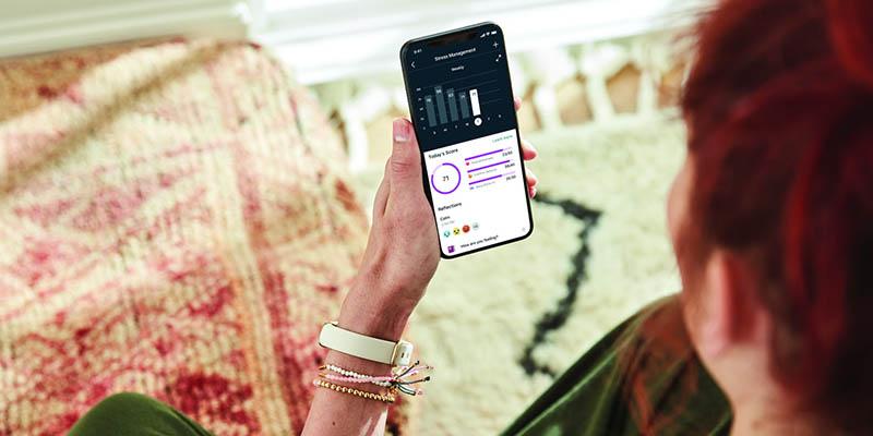 Fitbit Luxe met iPhone-app